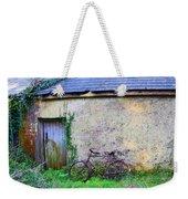 Old Irish Cottage With Bike By The Door Weekender Tote Bag