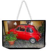 Old Italian Car Fiat 500  Weekender Tote Bag