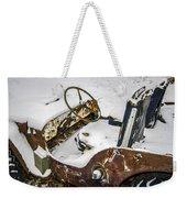 Old Jeep - New Snow Weekender Tote Bag