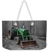 Old John Deere Tractor Weekender Tote Bag by Edward Fielding