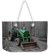Old Tractor By The Barn Etna New Hampshire Weekender Tote Bag