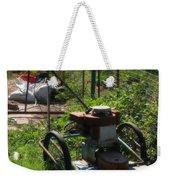 Vintage Lawn Mower Weekender Tote Bag