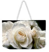 Old Lace Rose Bouquet Weekender Tote Bag