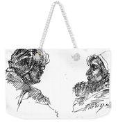 Old Ladies Talking Weekender Tote Bag