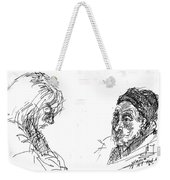Old Lady With A Lady Weekender Tote Bag