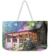 Old Log Cabin Home Weekender Tote Bag