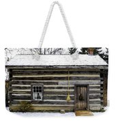 Old Log Home With A Broom Weekender Tote Bag