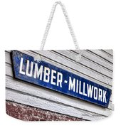 Old Lumberyard Sign Weekender Tote Bag