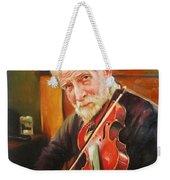 Old Man And Fiddle Weekender Tote Bag