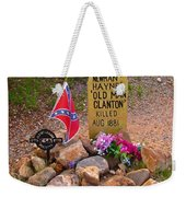 Old Man Clanton At Boot Hill Weekender Tote Bag