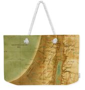 Old Map Of The Holy Land Weekender Tote Bag