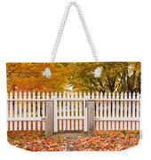 Old New England White Picket Fence Weekender Tote Bag