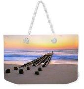 Old Ocean Pier At Dawn Weekender Tote Bag