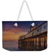 Old Orchard Beach Pier Sunset Weekender Tote Bag by Susan Candelario