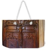 Old Ornamented Door Weekender Tote Bag