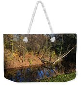 Old Park Canal In Autumn Weekender Tote Bag