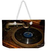 Old Phonograph Weekender Tote Bag