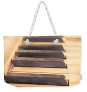 Old Piano Keys Weekender Tote Bag