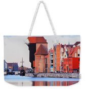 Old Port Crane In Gdansk Weekender Tote Bag