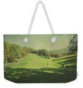 Old Postcard Of Golf Buddies At The Homestead Weekender Tote Bag