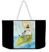 Old Pt Loma Lighthouse Ca Nautical Chart Map Art Cathy Peek Weekender Tote Bag