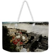Old Quebec City By St.lawrence Weekender Tote Bag