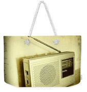 Old Radio Weekender Tote Bag