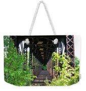 Old Railroad Car Bridge Weekender Tote Bag