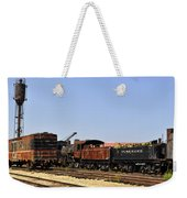 Old Railroad Cars From The Series View Of An Old Railroad Weekender Tote Bag