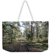 Old Railroad Tracks Weekender Tote Bag