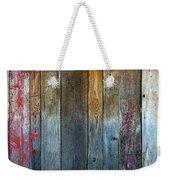 Old Reclaimed Wood - Rustic Red Painted Wall  Weekender Tote Bag