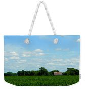 Old Red Barn And Fields Weekender Tote Bag