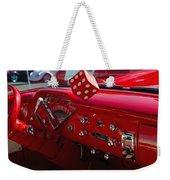 Old Red Chevy Dash Weekender Tote Bag