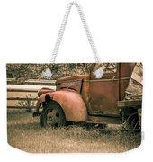 Old Red Farm Truck Weekender Tote Bag
