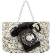 Old Rotary Phone On Money Background Weekender Tote Bag