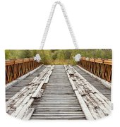 Old Rotten Abandoned Bridge Leading To Nowhere Weekender Tote Bag