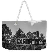 Old Route 66 And Cool Pines Weekender Tote Bag