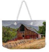 Old Rural Barn In Thunderstorm - Utah Weekender Tote Bag