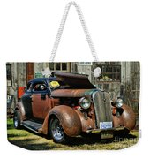 Old Rusty Car At The Old Shop  Ca5083a-14 Weekender Tote Bag