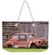 Old Rusty Car Weekender Tote Bag