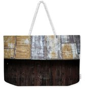 Old Rusty Tin Roof Barn Weekender Tote Bag by Edward Fielding