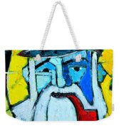 Old Sailor With Pipe Expressionist Portrait Weekender Tote Bag