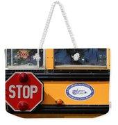 Old School Bus 1 Weekender Tote Bag