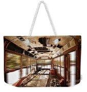 Old School Bus In Motion Hdr Weekender Tote Bag