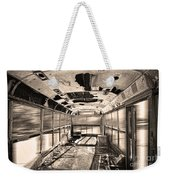 Old School Bus In Sepia Motion  Weekender Tote Bag