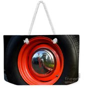 Old School Wheel And New Reflection Weekender Tote Bag