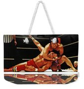 Old School Wrestling Headlock By Dean Ho On Don Muraco With Reflection Weekender Tote Bag