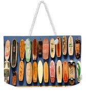 Old Skateboards On Display Weekender Tote Bag