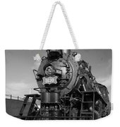 Old Steam Engine Black And White Weekender Tote Bag