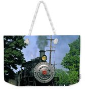 Old Steam Train Weekender Tote Bag